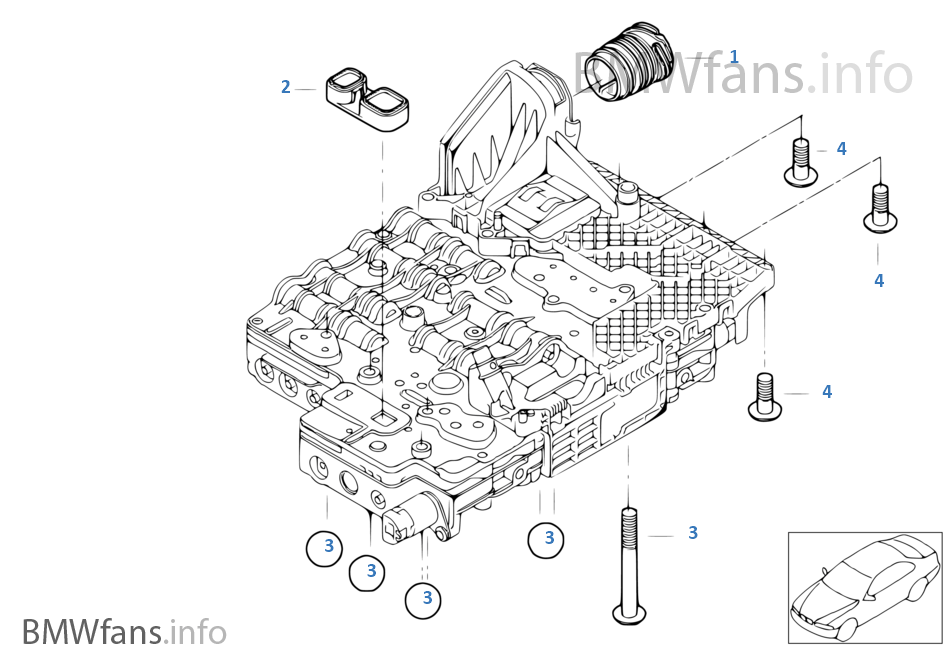 GA6HP26Z Mechatronik mounting parts