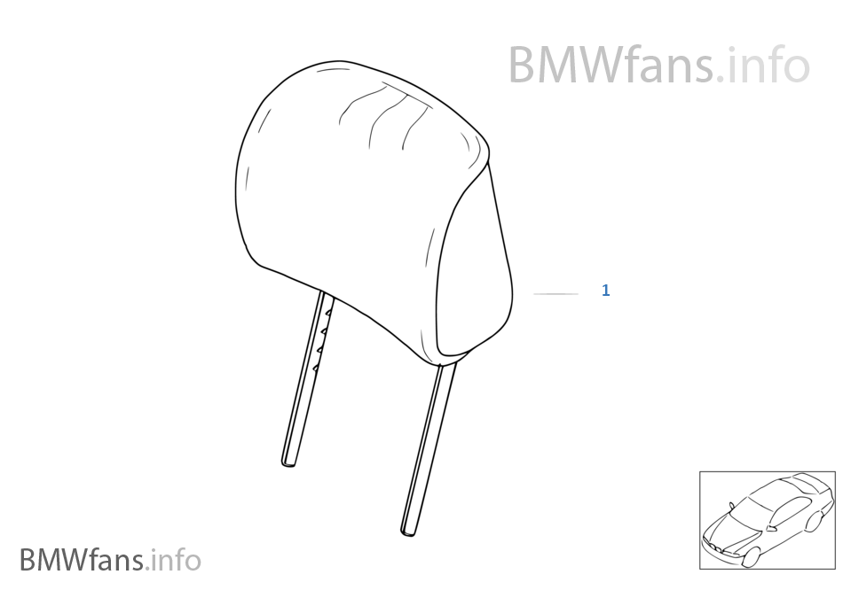 Indiv. headrest, sports seat, leather