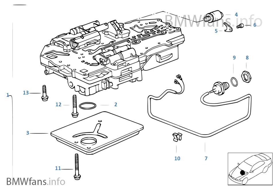 ZF 4HP22/24-H 시프트유닛 + 설치부품