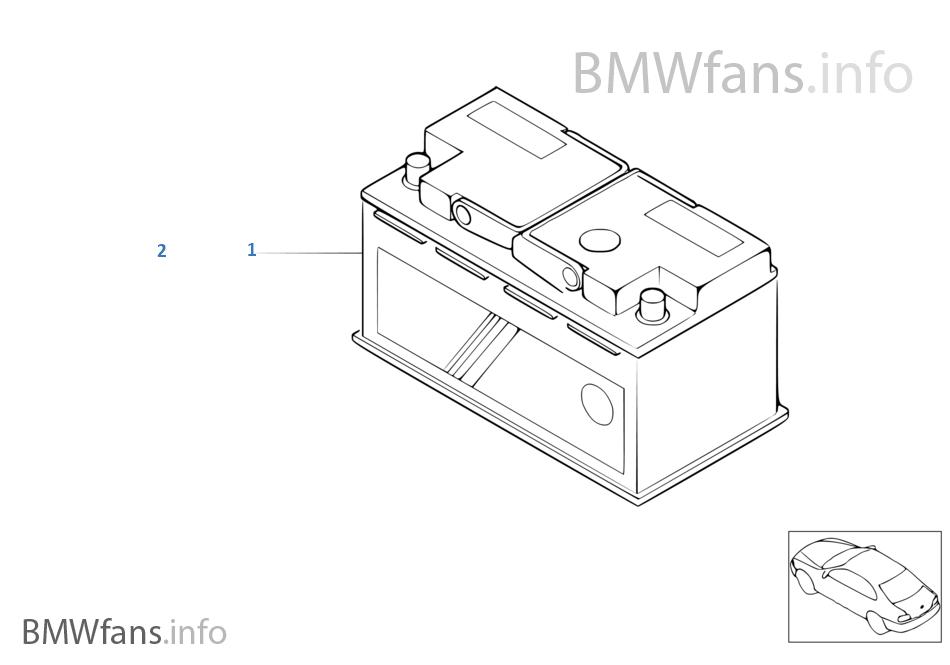 Bateria original BMW rellenada