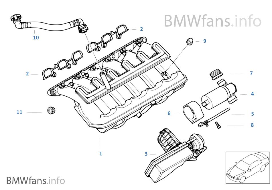 e46 intake manifold diagram