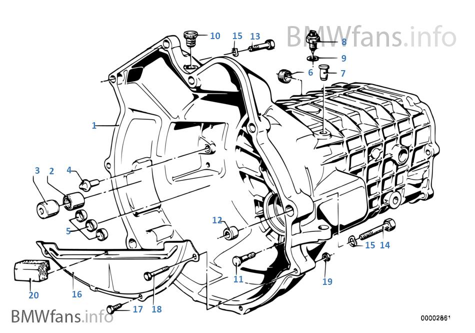 Getrag 242 housing+attaching parts   BMW 3' E21 318i M10 Europe