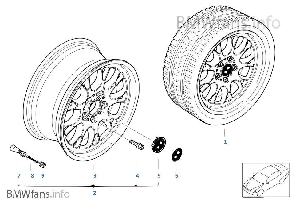 BMW 경합금 휠,크로스-스파이더 133
