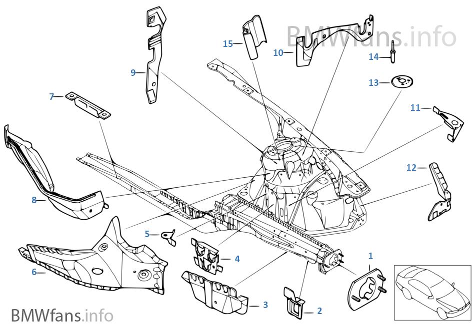 Konstrukcja przednia, uchwyt lewy
