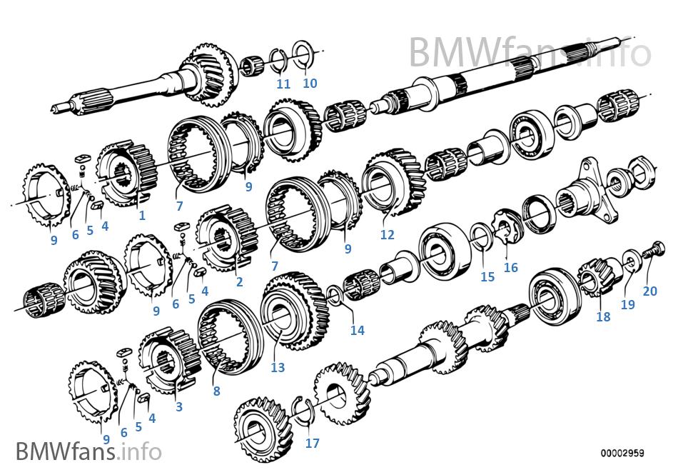 Getrag 265/5 gear wheel set, sing part   BMW 6' E24 635CSi M30 Europe