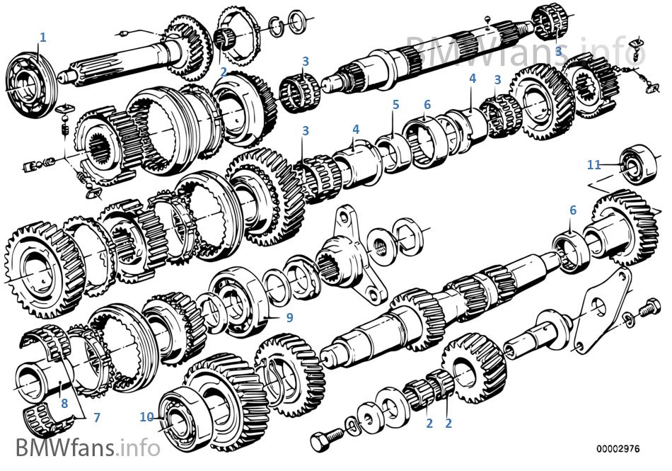 Getrag 265/6 gear wh.set parts/r.bearing