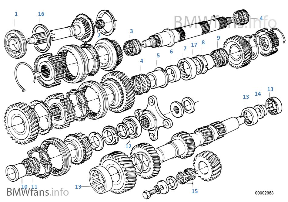 Getrag 245/2/4 齒輪組件 / 滾動軸承