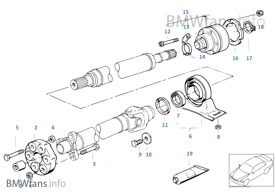 Articulation palier de transmission