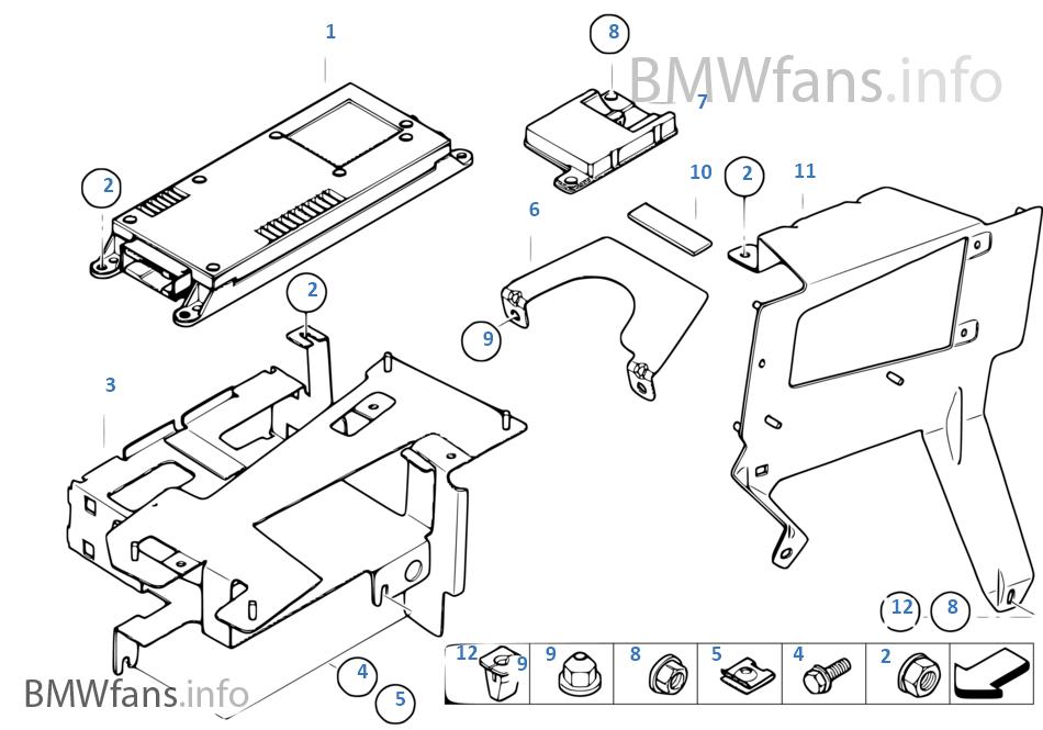 Single parts, SA 638, trunk