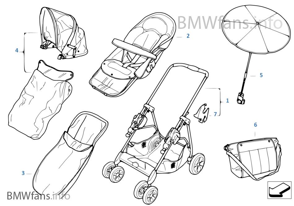 BMW buggy chrome-marine with accessories