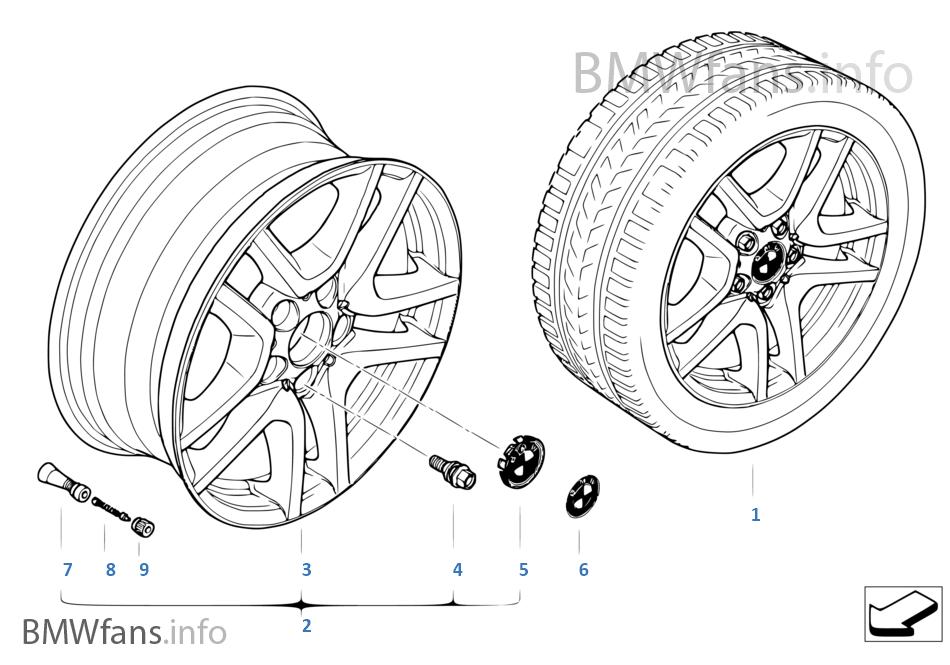 BMW wiel LM V-spaak 130
