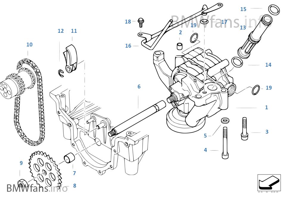 Lubrication System Oil Pump With Drive Bmw Z8 E52 Z8 S62