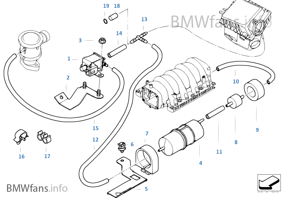 Air Pump F Vacuum Control Bmw X5 E53 X5 4 4i M62 Europe