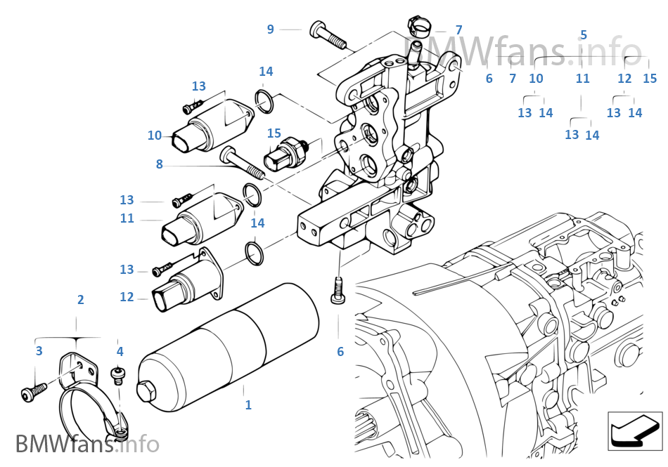 bmw e46 manual transmission parts