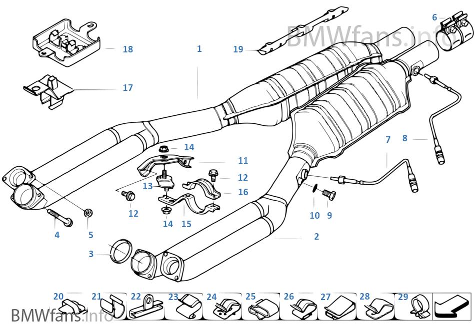 Bmw 750i E38 Exhaust