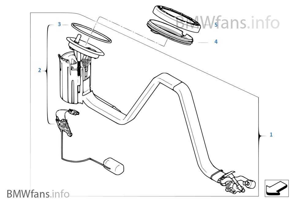 Pompa paliwowa/Czujnik poziomu prawy
