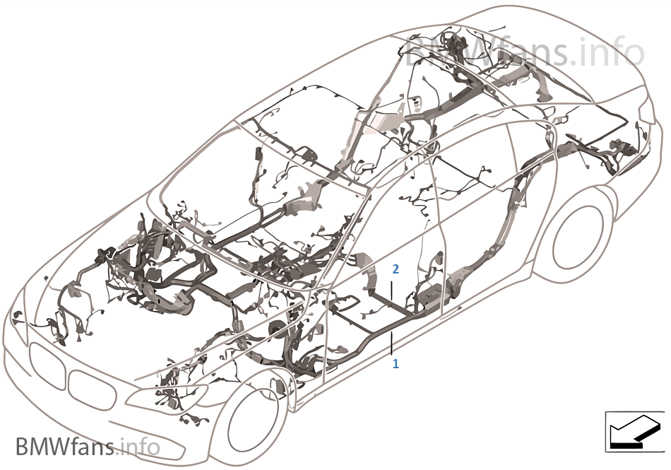 main wiring harness, duplicate | bmw 5' f10 550i n63 usa, Wiring diagram