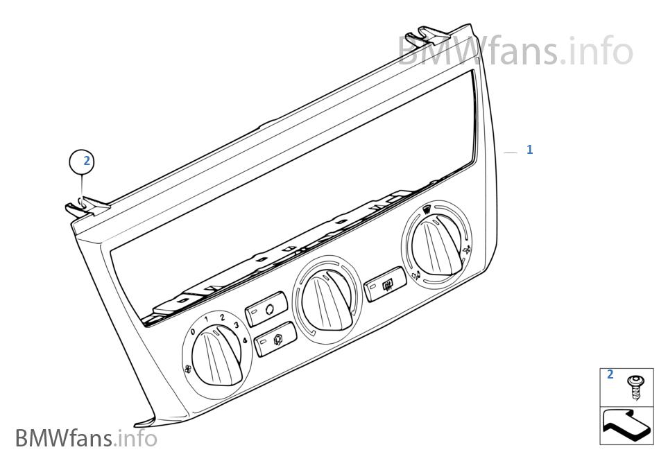 Air Conditioning Control   BMW X3 E83 X3 2 5i M54 USA