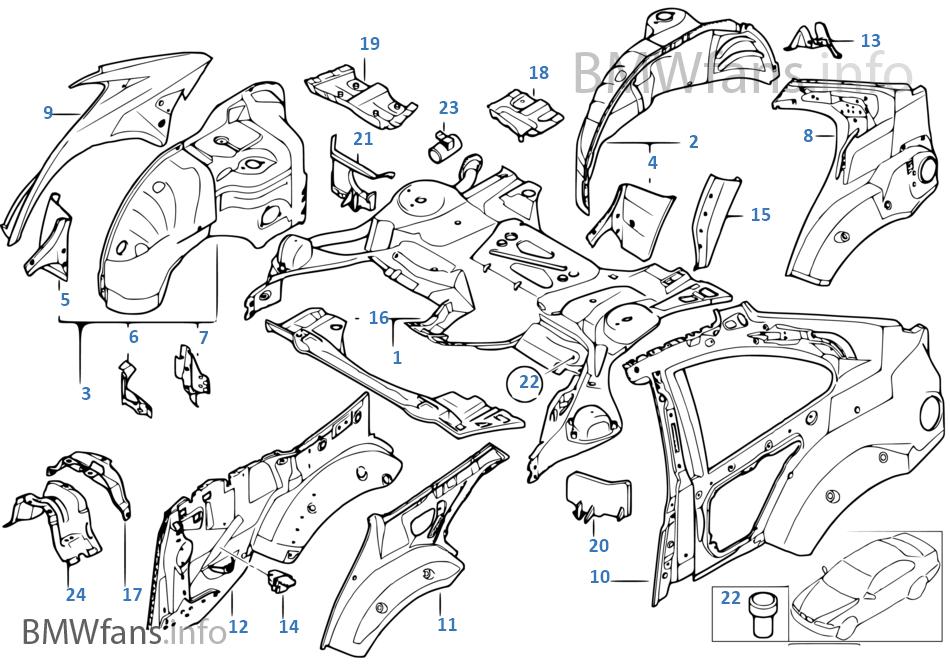 Θόλος τροχού πίσω/τμήματα δαπέδου
