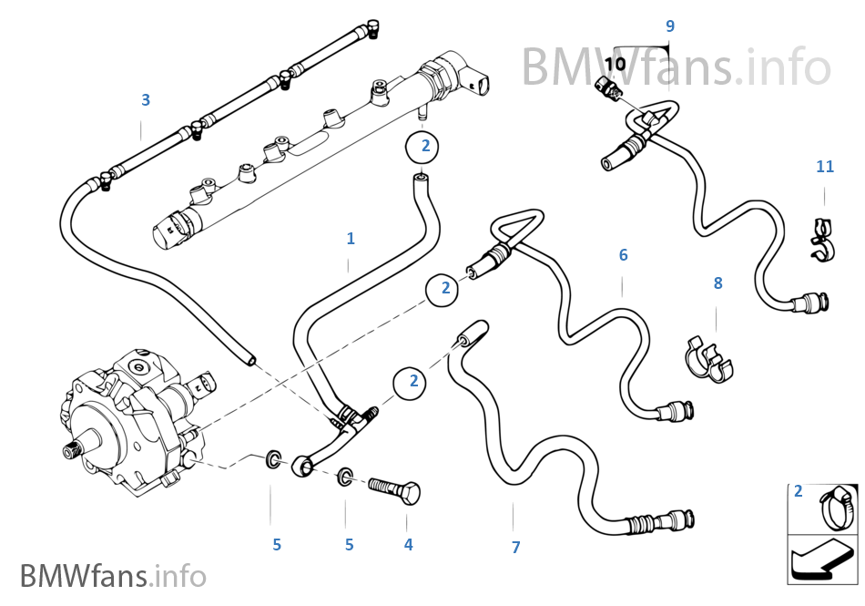 2squ fuel lines bmw 3' e46 320d m47n europe bmw e46 fuel system diagram at virtualis.co