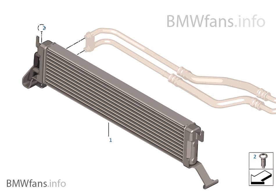 Engine oil cooler bmw x5 e53 x5 n62 europe for Bmw x5 motor oil