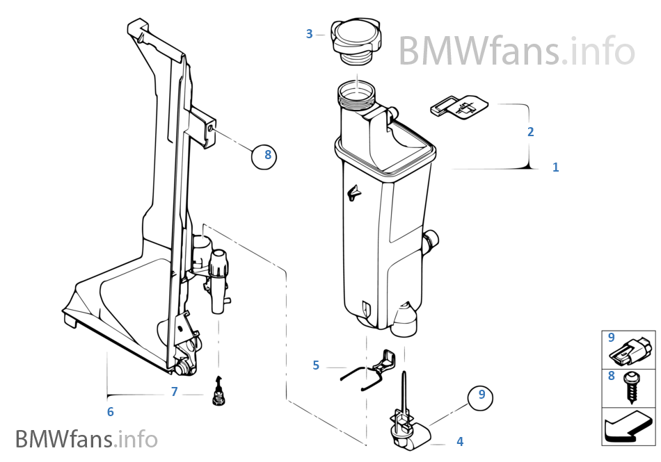 2004 bmw 325i radiator diagram