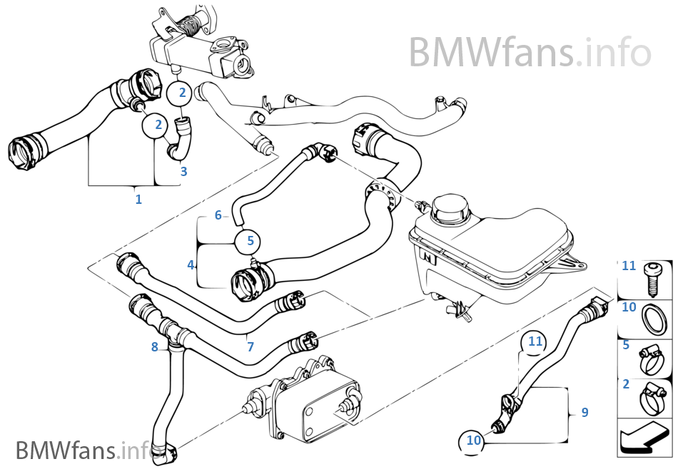 2004 Bmw X3 Cooling System Diagram
