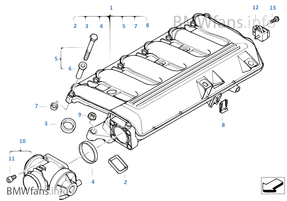 2008 Bmw 335i Belt Diagram as well Bmw 128i Fuse Box moreover Kia Sorento Cargo Dimensions together with Air pump f vacuum control likewise Intake manifold system agr. on 2009 bmw 328i engine diagram