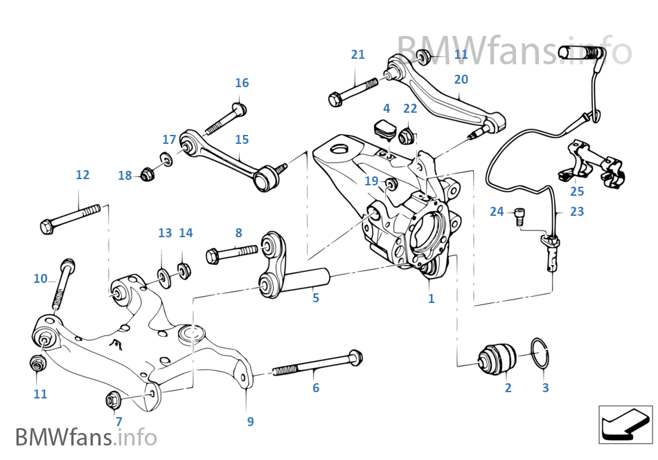 front suspension diagram bmw e60 e61