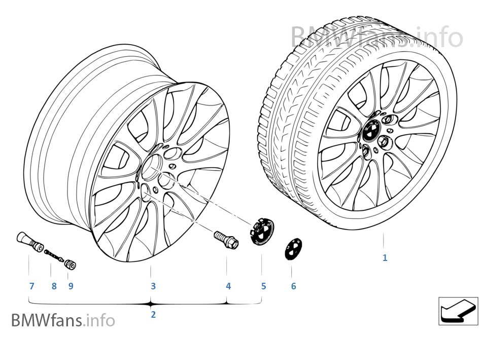 bmw light alloy wheel star spoke 171 bmw 3 39 e46 320d m47n europe. Black Bedroom Furniture Sets. Home Design Ideas