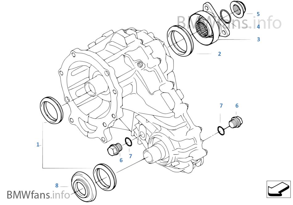 Single Parts F Transfer Case Lwx 500