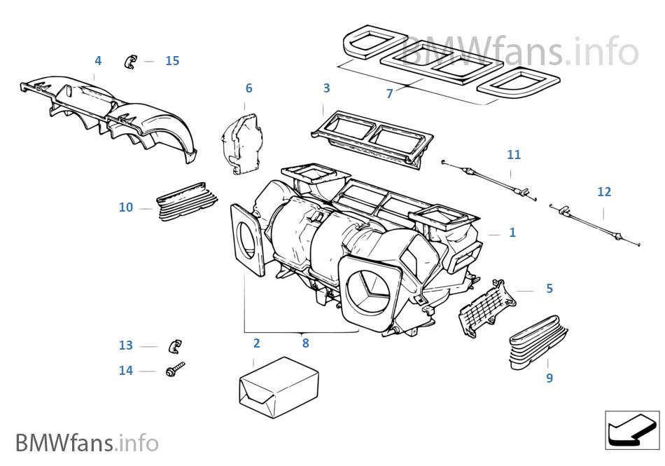 Części obudowy autom.klimatyzacji
