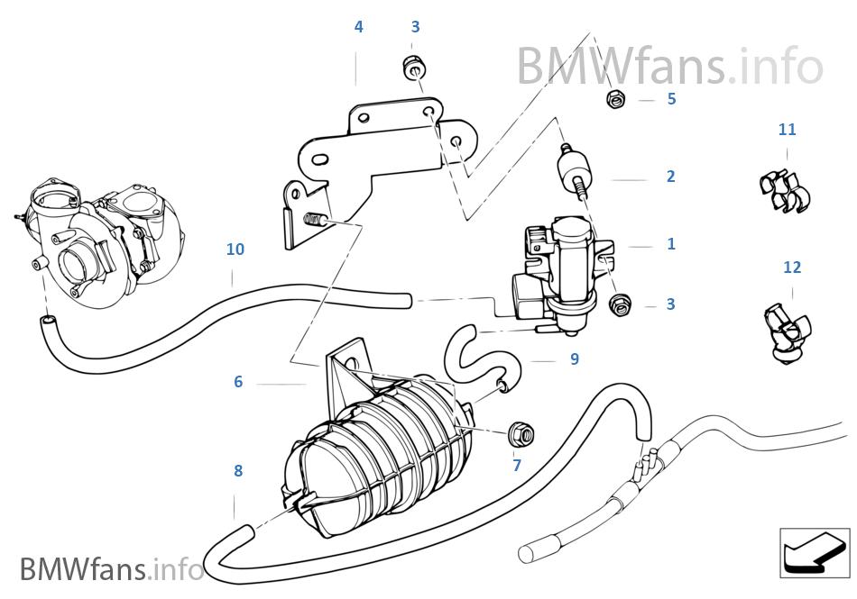 vacum control engine turbo charger bmw x3 e83 x3 2 0d m47n2 europe BMW X3 E83 vacum control engine turbo charger bmw x3 2 0d e83