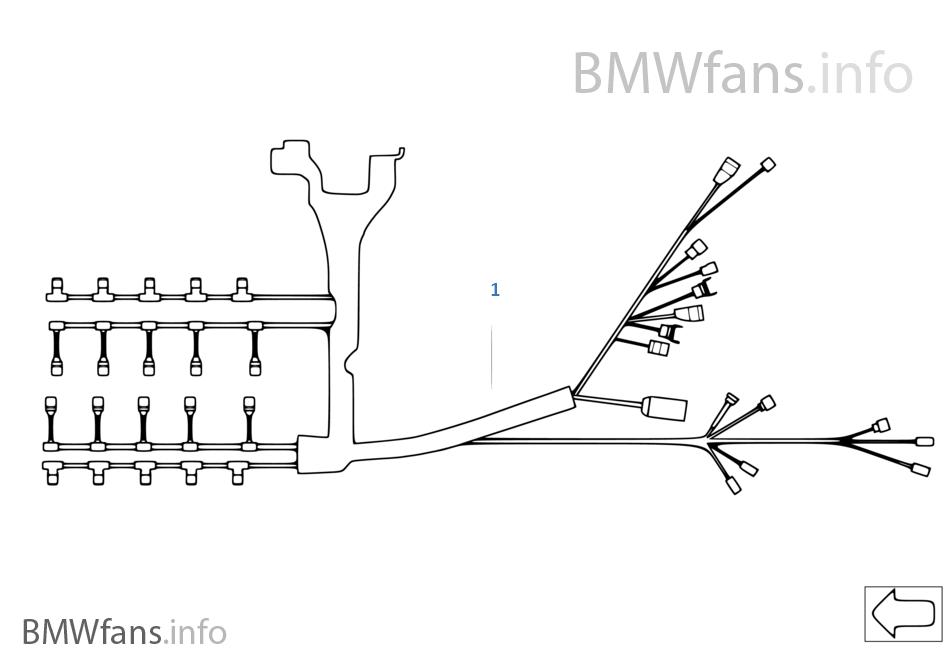 Engine wiring harness   BMW 5' E60 M5 S85 USA on