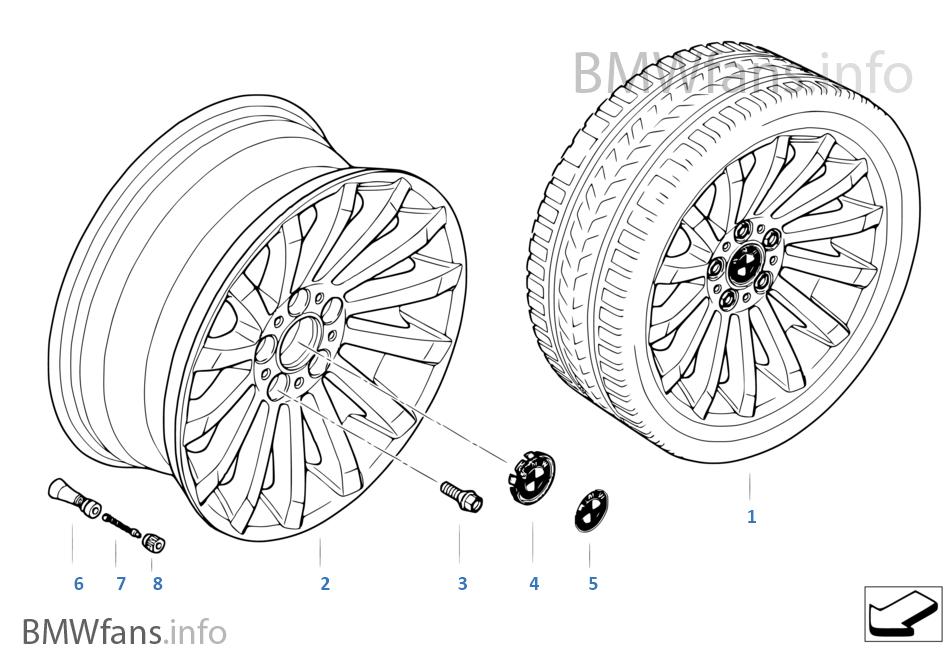 Л/c диск BMW с радиальными спиц.диз.196