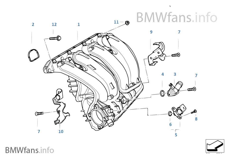 Intake manifold system   BMW 3' E90 318i N46 EuropeBMWfans.info