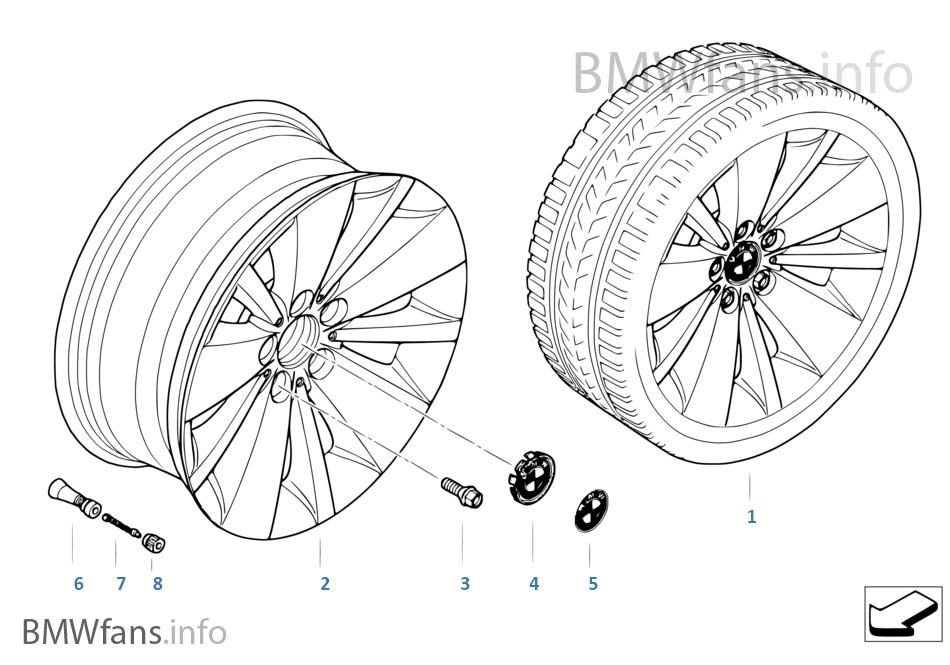 BMW LM Rad Doppelspeiche 174