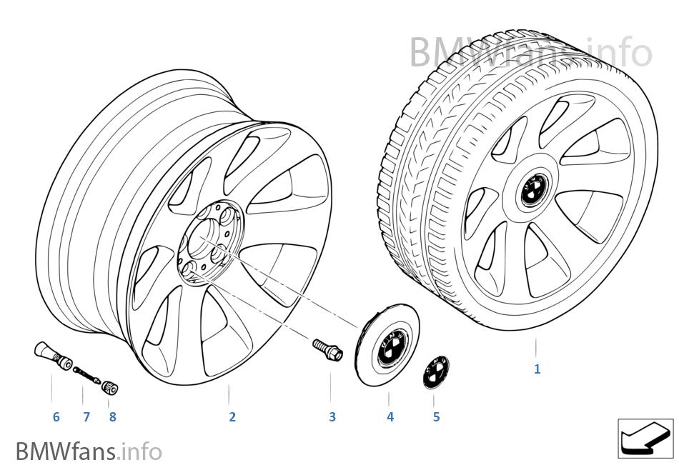 BMW LM Rad Sternspeiche 175