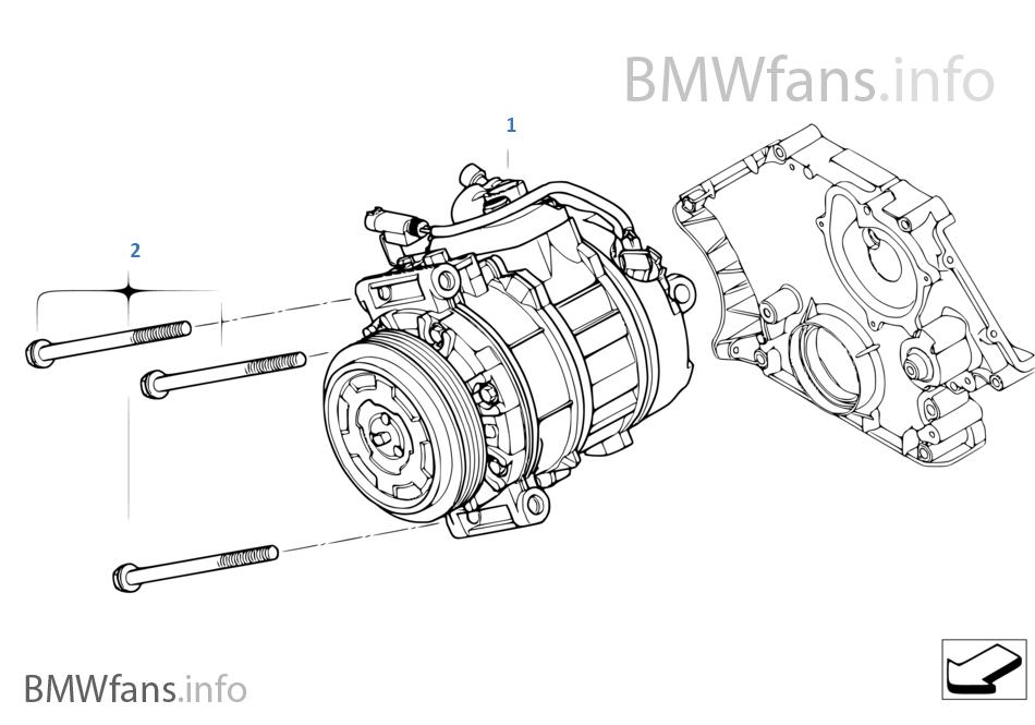KLIMAKOMPRESSOR FÜR BMW 5ER E60 LIMO