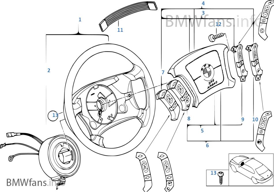 Lenkrad Airbag Multifunktion