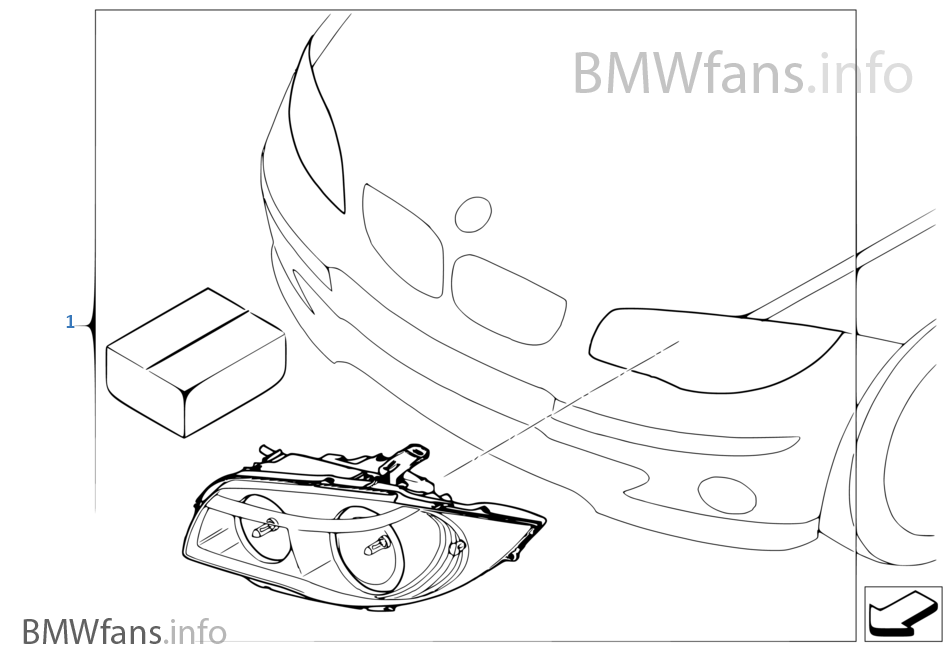 Retrofit kit adaptive headlights | BMW 1' E82 135i N54 Europe