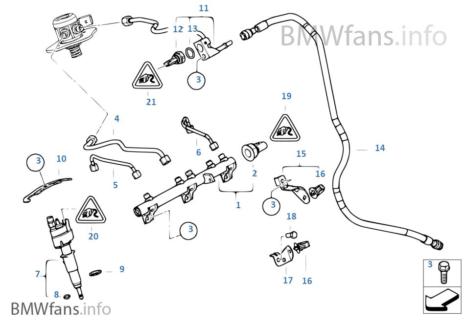 Hochdruckrail/Injektor/Leitung
