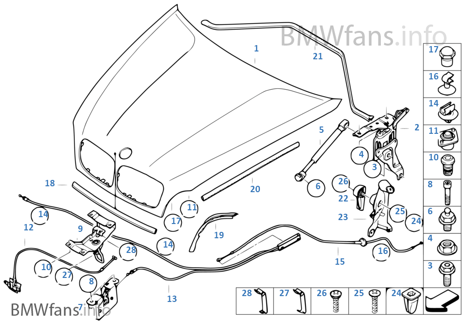 bmw x5 engine parts diagram