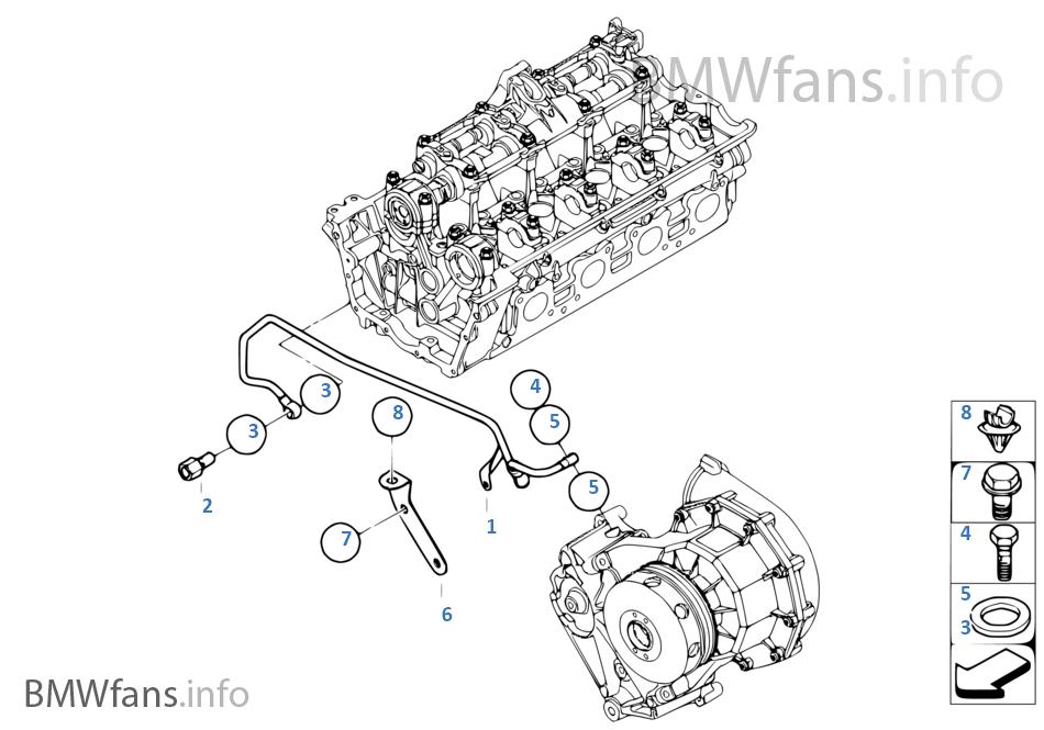 Oil Supply To Radial Pressor BMW 7' E65 Alpina B7 N62 Usa