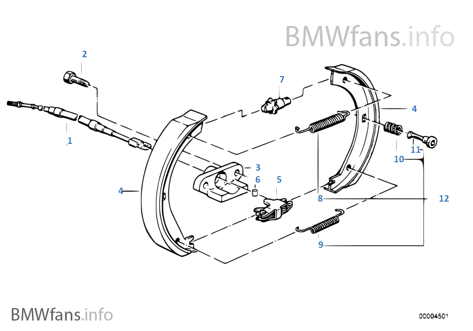 parking brake  brake shoes