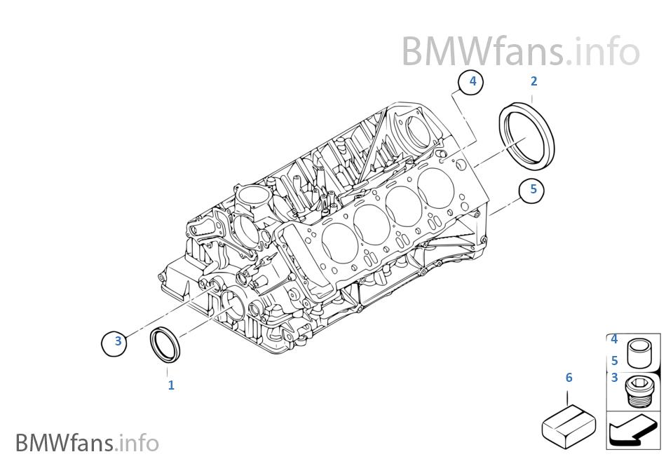 Engine Block Mounting Parts | BMW 3' E93 M3 S65 USA