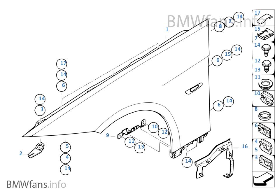 Μπροστινό φτερό / πρόσθετα εξαρτήματα