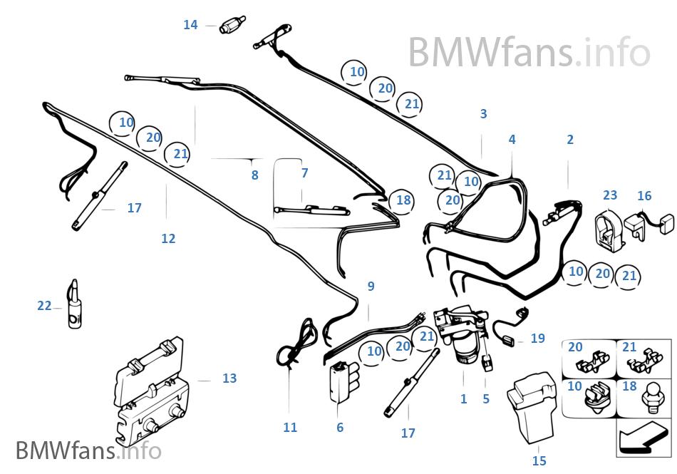 Eh Verdeck Hydraulikteile Bmw 3 E46 330ci M54 Europa