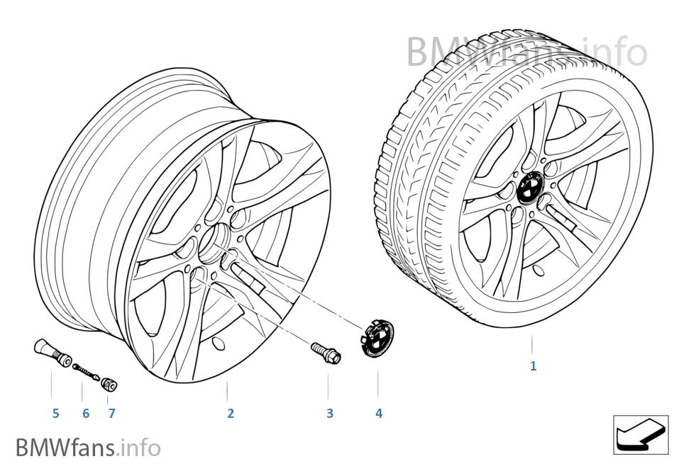 BMW LA wheel, double spoke 268