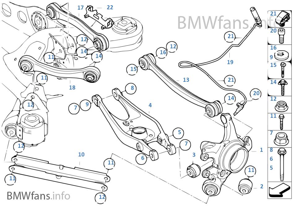 Rear axle support/wheel suspension